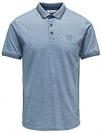 ONLY&SONS Pánske polo triko Stan SS Fitted Polo Tee Noos Majolica Blue S