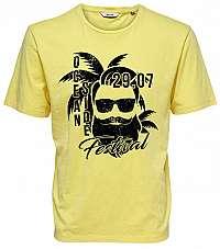 ONLY&SONS Pánske tričko Promto Ss Reg Tee Mellow Yellow S