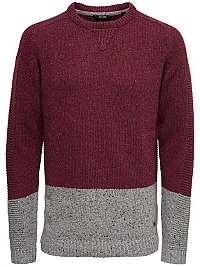 ONLY&SONS Pánsky sveter Bole Naps Knit Cabernet M