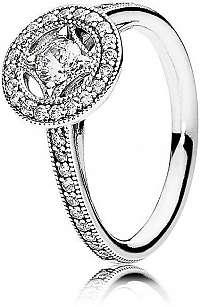 Pandora Luxusné trblietavý prsteň zo striebra 191006CZ 56 mm
