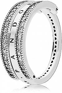 Pandora Luxusný strieborný prsteň 197404CZ 58 mm