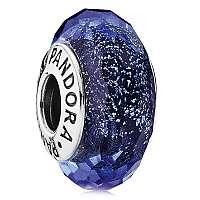 Pandora Modrý sklenený korálik 791646
