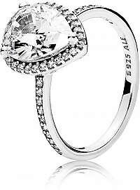 Pandora Oslnivý strieborný prsteň 196251CZ 56 mm
