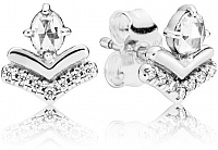 Pandora Strieborné náušnice s čírymi kamienkami7787CZ
