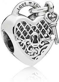 Pandora Strieborný korálik Kľúč k srdcu 797655