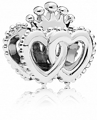 Pandora Strieborný korálik Kráľovská srdce 797670
