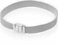 Pandora Strieborný mesh náramok Reflexions 597712 19 cm
