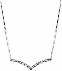 Pandora Strieborný náhrdelník s kamienkami7802CZ-45