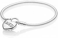 Pandora Strieborný náramok so srdiečkom 597806 19 cm