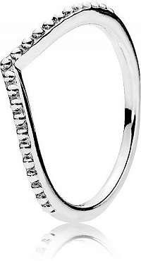 Pandora Strieborný prsteň s korálkami 196315 mm