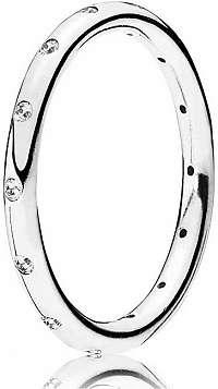 Pandora Strieborný prsteň s trblietavými kamienkami 190945CZ mm