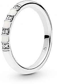Pandora Strieborný prsteň s trblietavými kamienkami 198052CZ mm