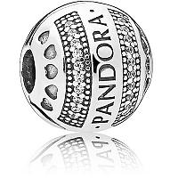Pandora Strieborný trblietavý klip 797433CZ