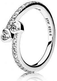 Pandora Strieborný trblietavý prsteň 191023CZ mm