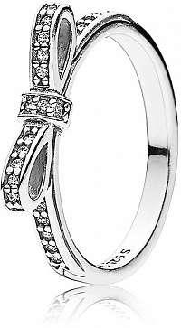 Pandora Trblietavý prsteň s mašličkou 190906CZ 56 mm