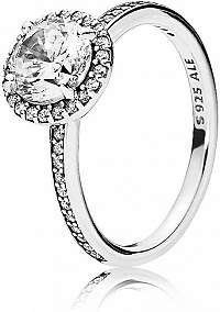 Pandora Trblietavý strieborný prsteň 196250CZ 60 mm