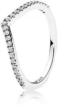 Pandora Trblietavý strieborný prsteň 196316CZ 60 mm