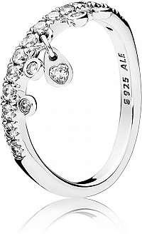 Pandora Trblietavý strieborný prsteň 197108CZ mm