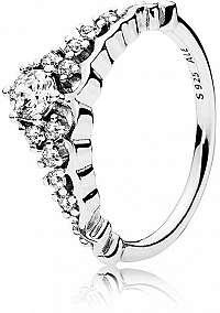 Pandora Trblietavý strieborný prsteň Diadém 196226CZ 56 mm