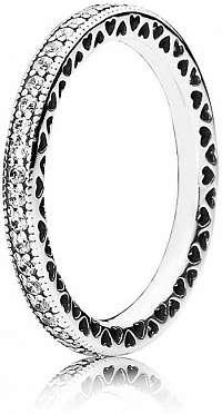 Pandora Zamilovaný prsteň s kryštálmi 190963CZ-56 mm
