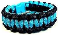 Cordell Paracord náramok Solomon Čierna-Modrá M ( 18 - 19 cm )