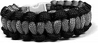 Cordell Paracord náramok Solomon Čierna-Sivá s reflexnými nitkami M ( 18 - 19 cm )