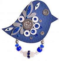 Petra Švarcová Modrá brošňa Vták