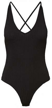 b78e06cfeb38 Pieces Dámske body Ella Bodystocking Black XL