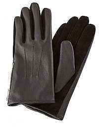 Pieces Dámske rukavice PCHARPER LEATHER GLOVES Black M