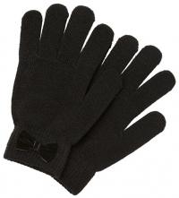 Pieces Dámske rukavice PCNEW BUDDY BOW GLOVE Black
