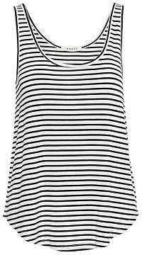 Pieces Dámske tielko Billo Tank Top Noosa Bright White Black XS