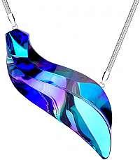 Preciosa Extravagantné strieborný náhrdelník Delphinus 7336