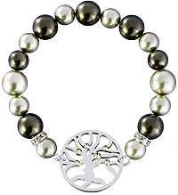 Preciosa Oceľový náramok s perlami Olive 7299