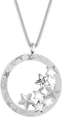 Preciosa Výrazný oceľový náhrdelník Virgo 7340 10