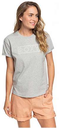 Roxy Dámske tričko Epic Afternoon Word Heritage Heather ERJZT04808-SGRH XS