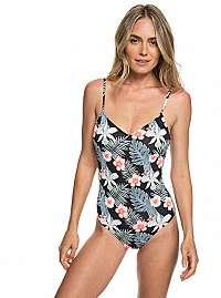 Roxy Jednodielne plavky Pt Beach Classics Basic 1 pce Anthracite Tropicalababa Swim ERJX103165-KVJ8 XL