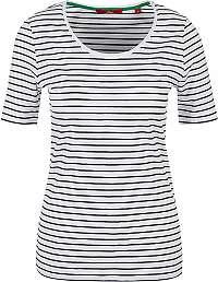 s.Oliver Dámske tričko 04.899.32.6022.01G3 Black stripes
