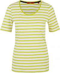s.Oliver Dámske tričko 04.899.32.6022 .12G5 Yellow stripes