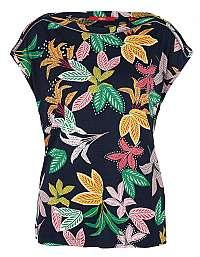s.Oliver Dámske tričko 14.907.32.4052.59C2 Navy Floral Print