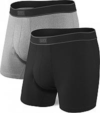 SAXX Sada pánskych boxeriek DAYTRIPPER BB FLY 2 PK black / graphite heather XL