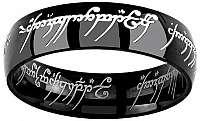 Silvego Čierny oceľový prsteň moci z filmu Pán prsteňov RRC5623 63 mm