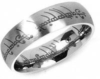 Silvego Oceľový prsteň moci z filmu Pán prsteňov RRC2010 68 mm