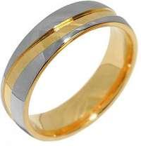 Silvego Snubný oceľový prsteň pre mužov a ženy Mariage RRC2050-M 59 mm