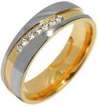Silvego Snubný oceľový prsteň pre ženy Mariage RRC2050-Z mm