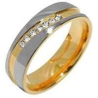 Silvego Snubný oceľový prsteň pre ženy Mariage RRC2050-Z 60 mm