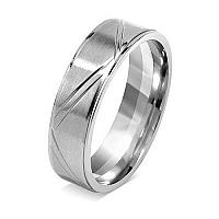 Silvego Snubný prsteň pre mužov a ženy z chirurgickej ocele RRC0465 mm