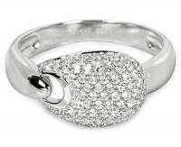 Silver Cat Strieborný prsteň s kryštálmi SC106 56 mm