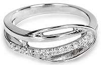 Silver Cat Strieborný prsteň s kryštálmi SC160 60 mm