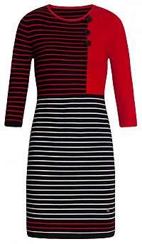 Smashed Lemon Dámske šaty 19678 Black / Red L