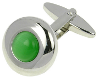 Starck Schmuck Manžetové gombíky Zelené mačacie oko.000R-C2